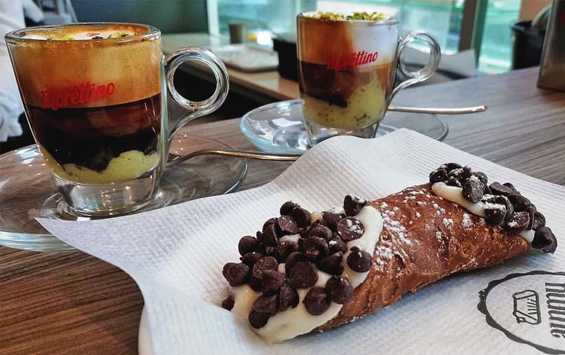 caffé Ammu e cannolo siciliano